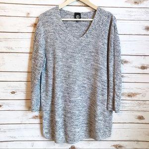 Bobeau Gray Cotton Over Sized Sweater Size Large